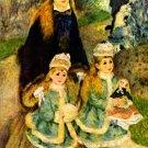 Walk park child canvas art print by Pierre-Auguste Renoir