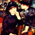 Two Girls in Black portrait canvas art print by Pierre-Auguste Renoir