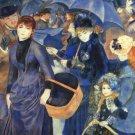 The Umbrellas women men child genre canvas art print by Pierre-Auguste Renoir