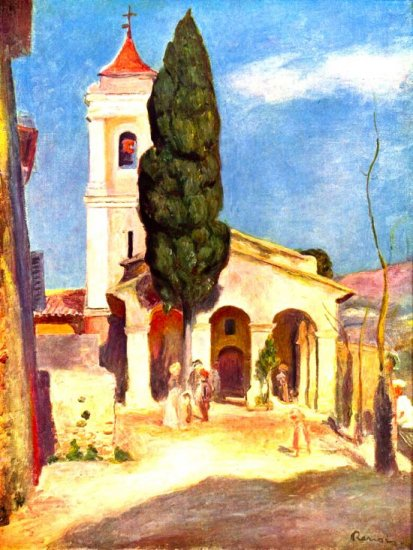 Church in Cagnes religious Christian Christ canvas art print Renoir