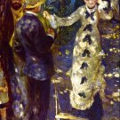 The Swing woman men landscape canvas art print by Pierre-Auguste Renoir