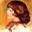 Coco portrait boy child artist's son canvas art print by Pierre-Auguste Renoir