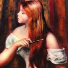 Combing Girl canvas art print by Pierre-Auguste Renoir