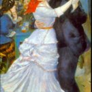 Dance at Bougival man woman people canvas art print by Pierre-Auguste Renoir
