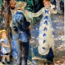 The Swing 1876 men women child girl park landscape people canvas art print by Pierre-Auguste Renoir