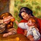 Gabrielle Jean and a Girl woman children canvas art print by Pierre-Auguste Renoir