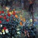 Garden in the Street Cortot Montmartre flowers cityscape canvas art print by Pierre-Auguste Renoir