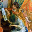 Girls at the Piano canvas art print by Pierre-Auguste Renoir