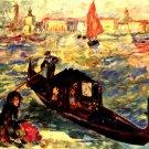 Gondola on the Grand Canal Venecia Canal Grande cityscape canvas art print by Pierre-Auguste Renoir