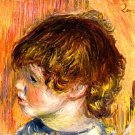 Head of a Young Girl child canvas art print by Pierre-Auguste Renoir