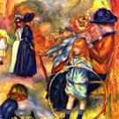 In the Park Jardin du Luxembourg children women landscape canvas art print Pierre-Auguste Renoir