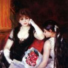 In the Loge Box in a Theatre opera house woman girl flowers canvas art print Pierre-Auguste Renoir