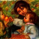 Jean Renoir and Gabrielle son baby boy nurse woman child canvas art print by Pierre-Auguste Renoir