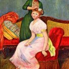 La Coiffure or Hairdressing girl woman hairdresser canvas art print by Pierre-Auguste Renoir