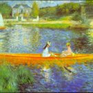 The Seine river water landscape canvas art print by Pierre-Auguste Renoir