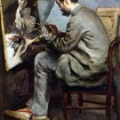 The Painter in the Studio of Bazille man portrait canvas art print by Pierre-Auguste Renoir