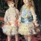 The Girls Cahen d'Anvers girls children canvas art print by Pierre-Auguste Renoir