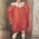 The clown boy child canvas art print by Pierre-Auguste Renoir