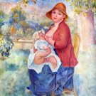 The child at the chest maternity woman baby canvas art print by Pierre-Auguste Renoir