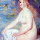 The Blond Bather I blonde woman canvas art print by Pierre-Auguste Renoir