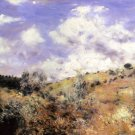 The Blast landscape hill rocks trees forest country canvas art print by Pierre-Auguste Renoir