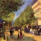 The Big Boulevards cityscape canvas art print by Pierre-Auguste Renoir