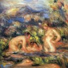 The Bathers Detail woman water landscape canvas art print by Pierre-Auguste Renoir