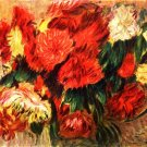 Still Life with Chrysanthemums flowers canvas art print by Renoir