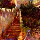 Stairs in Algier cityscape canvas art print by Pierre-Auguste Renoir