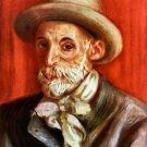 Renoir Self Portrait 1910 man canvas art print by Pierre-Auguste Renoir