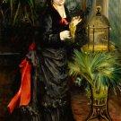 Woman with Parrot 1871 portrait bird canvas art print by Pierre-Auguste Renoir