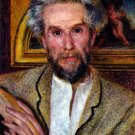 Portrait of Victor Chocquet 1875 man canvas art print by Pierre-Auguste Renoir