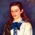 Portrait of Therese Berard 1879 woman canvas art print by Pierre-Auguste Renoir
