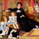 Portrait of Madame Charpentier and her Children 1878 canvas art print by Pierre-Auguste Renoir
