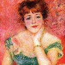 Portrait of the Actress Jeanne Samary 1878 woman canvas art print by Pierre-Auguste Renoir