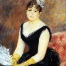 Portrait of Madame Leon Clapisson 1883 woman with fan canvas art print by Pierre-Auguste Renoir