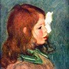 Portrait of Coco ca 1896 artist's son boy child canvas art print by Pierre-Auguste Renoir