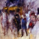 Place Clichy Detail landscape people canvas art print by Pierre-Auguste Renoir