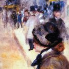Place Clichy 1880 landscape people canvas art print by Pierre-Auguste Renoir