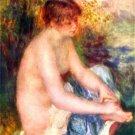 Woman in Blue canvas art print by Pierre-Auguste Renoir
