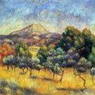 Mont St. Victoire Le Mont St. Victoire landscape canvas art print by Pierre-Auguste Renoir