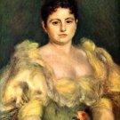 Mme Stephen Pichon woman portrait canvas art print by Pierre-Auguste Renoir