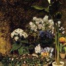 Mixed Spring Flowers landscape canvas art print by Pierre-Auguste Renoir