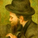 M Bernard Man with the Black Hat man canvas art print by Pierre-Auguste Renoir