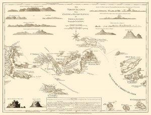 Virgin Islands Danish West Indies US and British map 1775 by Jefferys