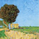 A Lane near Arles landscape canvas art print by Vincent van Gogh