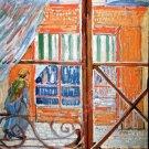 A Pork Butchers Shop Seen from a Window cityscape canvas art print by Vincent van Gogh