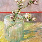 Still life blossoming Almond glass flowers canvas art print van Gogh