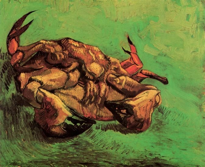 Crab on Its Back animals crustacean canvas art print by Vincent van Gogh