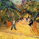 Entrance to the Public Park in Arles landscape canvas art print by Vincent van Gogh